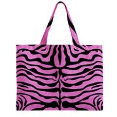 Skin2 Black Marble & Pink Colored Pencil Zipper Mini Tote Bag by trendistuff