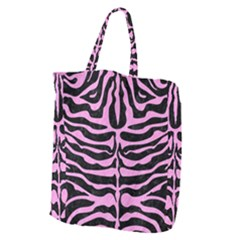 Skin2 Black Marble & Pink Colored Pencil (r) Giant Grocery Zipper Tote by trendistuff