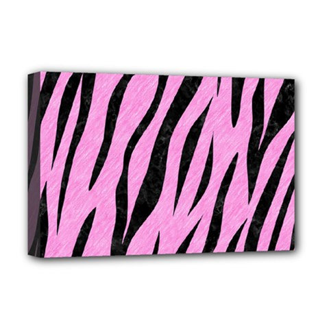 Skin3 Black Marble & Pink Colored Pencil Deluxe Canvas 18  X 12   by trendistuff