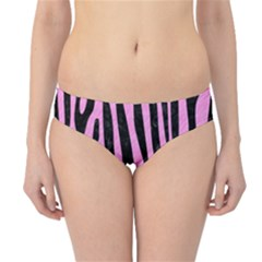 Skin4 Black Marble & Pink Colored Pencil (r) Hipster Bikini Bottoms