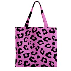 Skin5 Black Marble & Pink Colored Pencil (r) Zipper Grocery Tote Bag by trendistuff