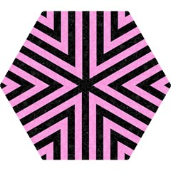 Stripes1 Black Marble & Pink Colored Pencil Mini Folding Umbrellas by trendistuff
