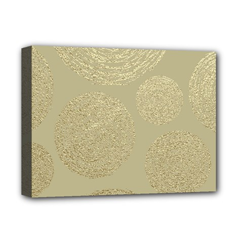 Modern, Gold,polka Dots, Metallic,elegant,chic,hand Painted, Beautiful,contemporary,deocrative,decor Deluxe Canvas 16  X 12