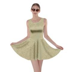 Modern, Gold,polka Dots, Metallic,elegant,chic,hand Painted, Beautiful,contemporary,deocrative,decor Skater Dress