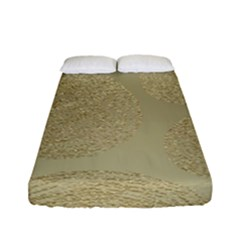 Modern, Gold,polka Dots, Metallic,elegant,chic,hand Painted, Beautiful,contemporary,deocrative,decor Fitted Sheet (full/ Double Size)