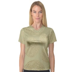 Modern, Gold,polka Dots, Metallic,elegant,chic,hand Painted, Beautiful,contemporary,deocrative,decor V Neck Sport Mesh Tee