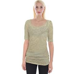 Modern, Gold,polka Dots, Metallic,elegant,chic,hand Painted, Beautiful,contemporary,deocrative,decor Wide Neckline Tee