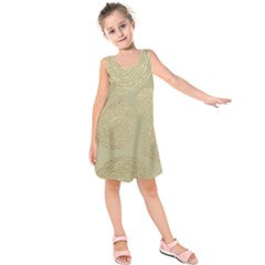 Modern, Gold,polka Dots, Metallic,elegant,chic,hand Painted, Beautiful,contemporary,deocrative,decor Kids  Sleeveless Dress