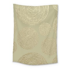 Modern, Gold,polka Dots, Metallic,elegant,chic,hand Painted, Beautiful,contemporary,deocrative,decor Medium Tapestry