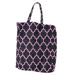 Tile1 Black Marble & Pink Colored Pencil (r) Giant Grocery Zipper Tote by trendistuff