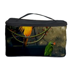 Funny Parrots In A Fantasy World Cosmetic Storage Case by FantasyWorld7