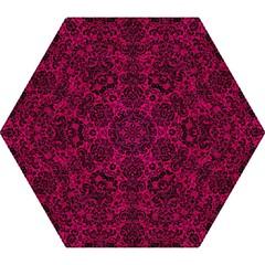 Damask2 Black Marble & Pink Leather Mini Folding Umbrellas by trendistuff