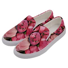 Beautiful Peonies Men s Canvas Slip Ons by 8fugoso