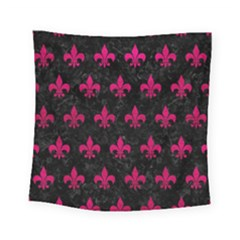 Royal1 Black Marble & Pink Leather Square Tapestry (small) by trendistuff