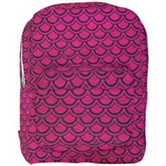 Scales2 Black Marble & Pink Leather Full Print Backpack by trendistuff