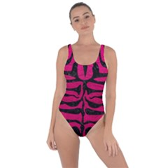Skin2 Black Marble & Pink Leather Bring Sexy Back Swimsuit by trendistuff