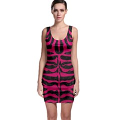 Skin2 Black Marble & Pink Leather (r) Bodycon Dress by trendistuff