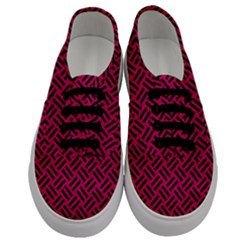 Woven2 Black Marble & Pink Leather Men s Classic Low Top Sneakers