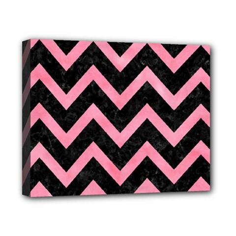 Chevron9 Black Marble & Pink Watercolor (r) Canvas 10  X 8  by trendistuff