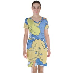 Abstract Nature 2 Short Sleeve Nightdress by tarastyle