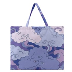 Abstract Nature 3 Zipper Large Tote Bag by tarastyle
