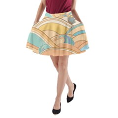 Abstract Nature 5 A Line Pocket Skirt by tarastyle