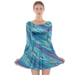 Abstract Nature 6 Long Sleeve Skater Dress