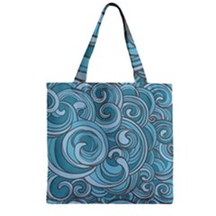 Abstract Nature 8 Zipper Grocery Tote Bag by tarastyle