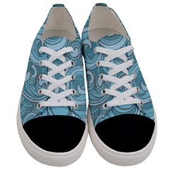 Abstract Nature 8 Women s Low Top Canvas Sneakers