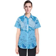 Abstract Nature 9 Women s Short Sleeve Shirt