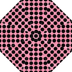 Circles1 Black Marble & Pink Watercolor Straight Umbrellas by trendistuff
