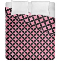 Circles3 Black Marble & Pink Watercolor Duvet Cover Double Side (california King Size) by trendistuff