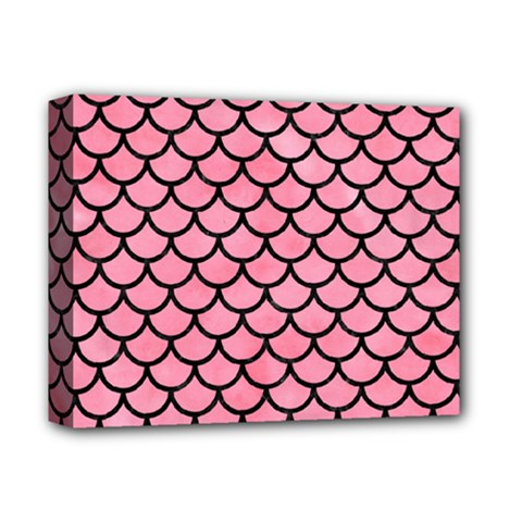 Scales1 Black Marble & Pink Watercolor Deluxe Canvas 14  X 11  by trendistuff