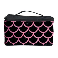 Scales1 Black Marble & Pink Watercolor (r) Cosmetic Storage Case by trendistuff