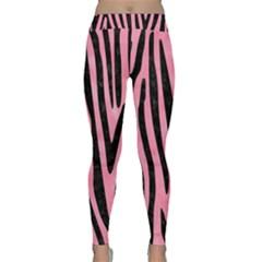 Skin4 Black Marble & Pink Watercolor (r) Classic Yoga Leggings by trendistuff