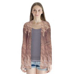 Fantastic Wood Grain 917c Drape Collar Cardigan by MoreColorsinLife