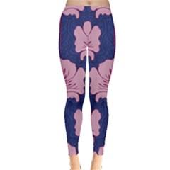 Beautiful Art Nouvea Floral Pattern Leggings  by 8fugoso