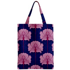 Beautiful Art Nouvea Floral Pattern Zipper Classic Tote Bag by 8fugoso