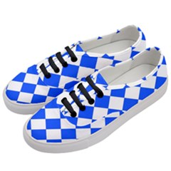 Blue White Diamonds Seamless Women s Classic Low Top Sneakers by Onesevenart