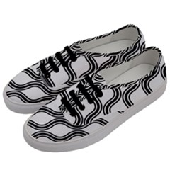 Diagonal Pattern Background Black And White Men s Classic Low Top Sneakers by Onesevenart