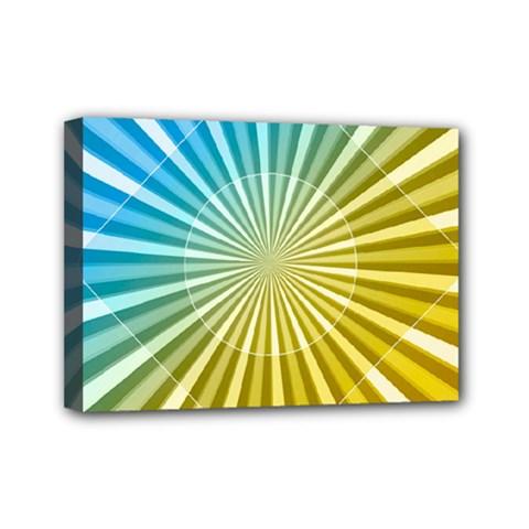 Abstract Art Art Radiation Mini Canvas 7  X 5  by Onesevenart