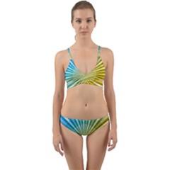 Abstract Art Art Radiation Wrap Around Bikini Set