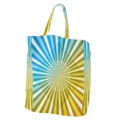 Abstract Art Art Radiation Giant Grocery Zipper Tote by Onesevenart