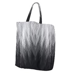 Feather Graphic Design Background Giant Grocery Zipper Tote by Onesevenart