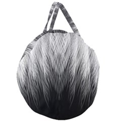 Feather Graphic Design Background Giant Round Zipper Tote by Onesevenart