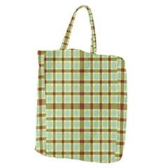 Geometric Tartan Pattern Square Giant Grocery Zipper Tote by Onesevenart