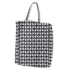 Grid Pattern Background Geometric Giant Grocery Zipper Tote by Onesevenart