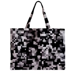 Noise Texture Graphics Generated Zipper Mini Tote Bag by Onesevenart
