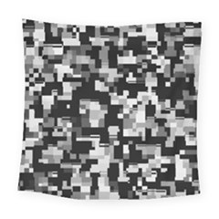 Noise Texture Graphics Generated Square Tapestry (large) by Onesevenart