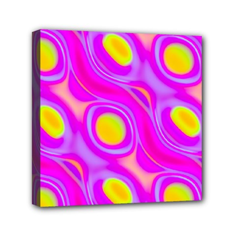 Noise Texture Graphics Generated Mini Canvas 6  X 6  by Onesevenart